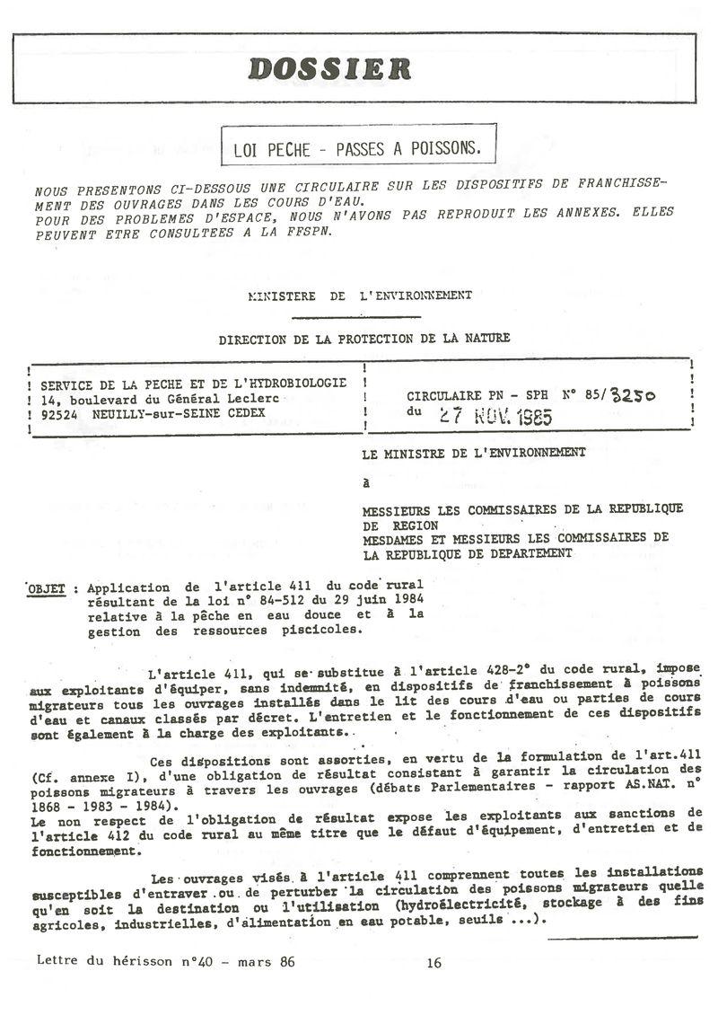 1986 Lettre 40 Archives Hérisson Picardie Nature De La Du tawCqxnqv